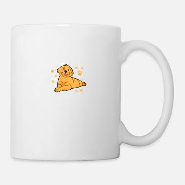 Bulldog The Best Therapy Is Golden Retriever Dog Saying - Mug