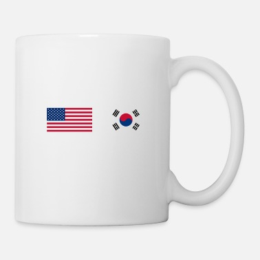 Korean Half Korean Half American 100% South Korea Flag - Mug