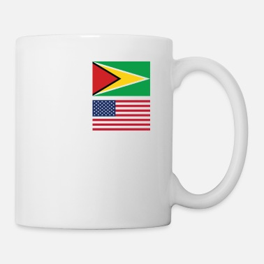 Guyana 50% Guyanese 50% American 100% Awesome Funny Flag - Coffee/Tea Mug