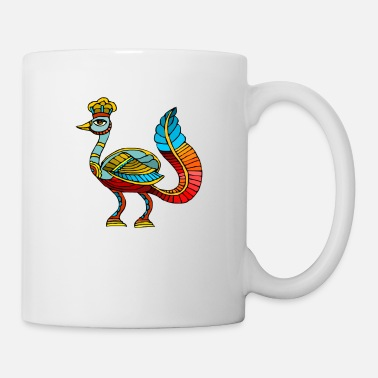 Ancient Egyptian Ancient Egyptian Painting - Peacock Deity - Mug