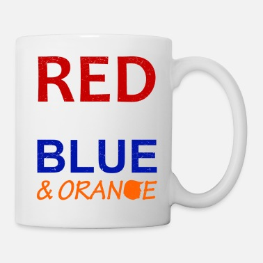 Red White And Blue Red White Blue and Orange - Coffee/Tea Mug