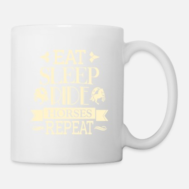 Sleeping Beauty Eat Sleep Ride Horse Repeat - riding fan gift - Mug