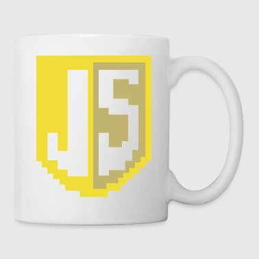 JavaScript Pixelart Logo - Coffee/Tea Mug