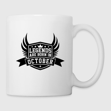 Legends Are Born in October | October Birthdays - Coffee/Tea Mug