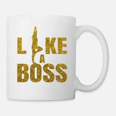 Glam Yoga Gold Glitter Glitter - Like A Boss D - Mug