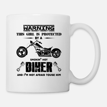 Girl Warning This Girl Is Protected By A Biker Mug - Coffee/Tea Mug