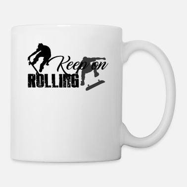 Skateboard Keep On Rolling Mug - Mug