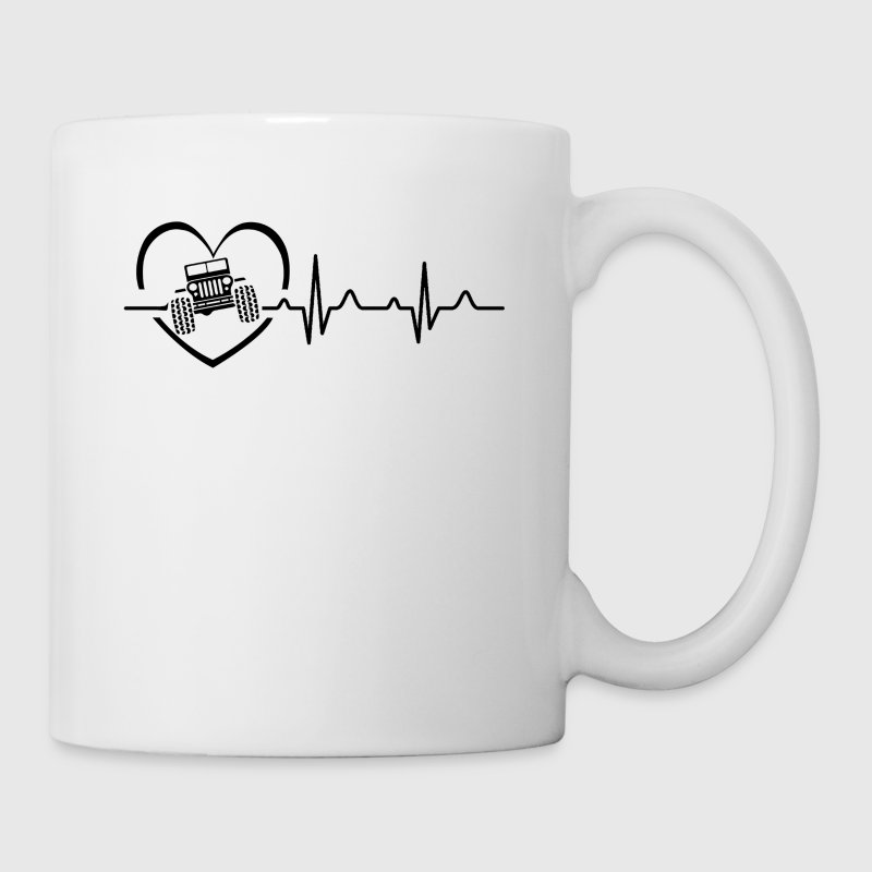 Jeep Heartbeat Mug - Coffee/Tea Mug