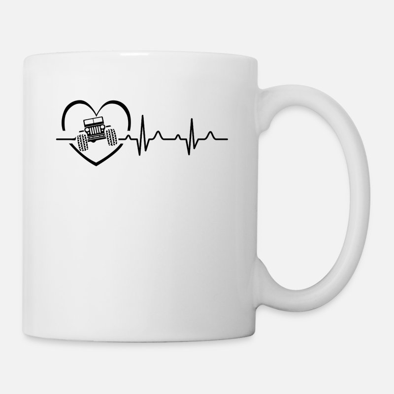 Women Mugs & Drinkware - Jeep Heartbeat Mug - Mug white