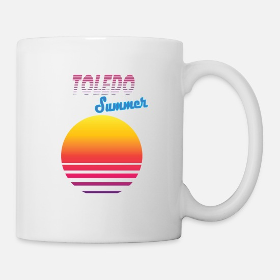 Retro Mugs & Drinkware - Toledo retro, vintage, 80s - Mug white