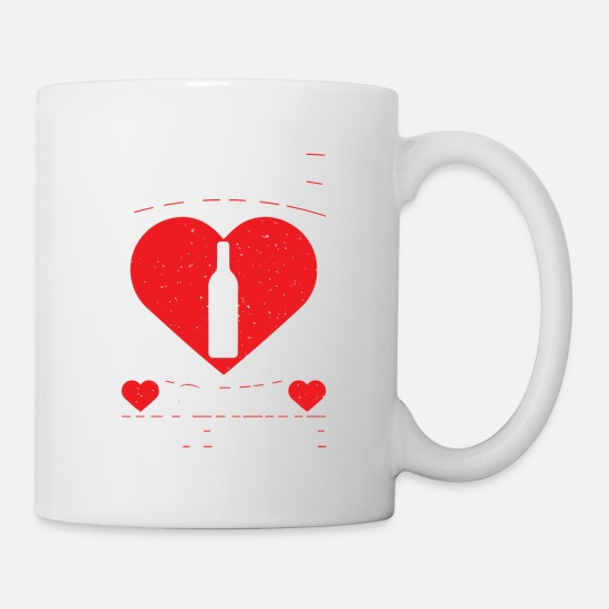 Wine Mugs & Drinkware - Wine Is My Valentine's Alcoholic Beverage Love Day - Mug white