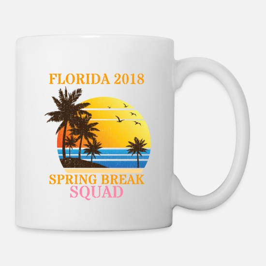Hawaii Mugs & Drinkware - Spring Break Squad Party Crew Miami Florida 2018 - Mug white