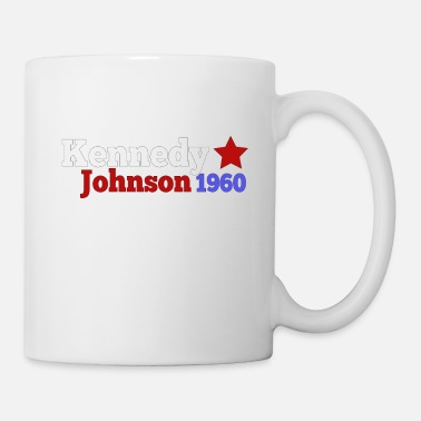 Template Presidential Election John JFK Kennedy & Lyndon B Johnson 1960 Presidential Election Campaign - Mug