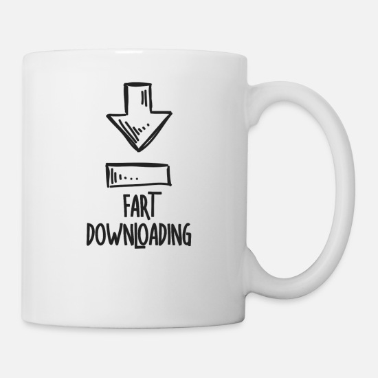 Arrow Mugs & Drinkware - Fart Downloading - Mug white