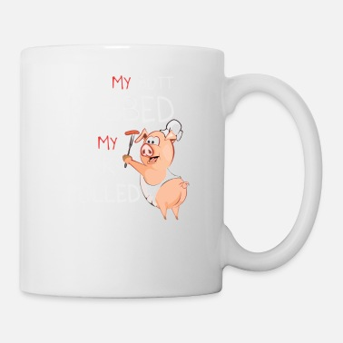 Grill I Like butt rubbed pork pulled grilling BBQ gift - Coffee/Tea Mug