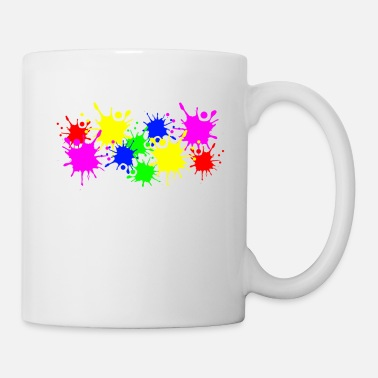 Color Splashes of color splashes of color color color du - Mug