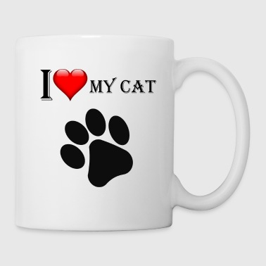 I Love My Cat Funny T-Shirt For Cats Fans - Coffee/Tea Mug