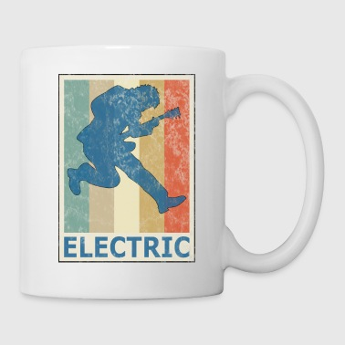 Retro Vitage Style Electric Guitar Player Bass - Coffee/Tea Mug