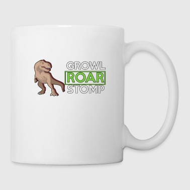 Growl Roar Stomp - Dinosaurs - Total Basics - Coffee/Tea Mug