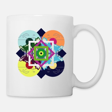 Vintage Colorful Nature Disc - Mug