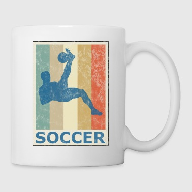 Retro Vintage Style Soccer Player Sports Game - Coffee/Tea Mug