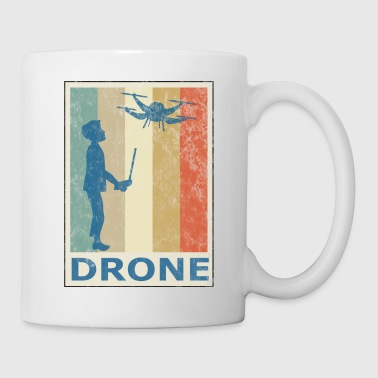 Retro Vintage Style Quadcopter Quadrocopter Copter - Coffee/Tea Mug