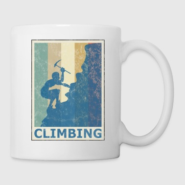 Retro Vintage Style Rock Climbing Climber Mountain - Coffee/Tea Mug