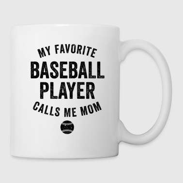 Baseball Gift My Favorite Baseball Player Black Funny Ball Players Shirt - Coffee/Tea Mug