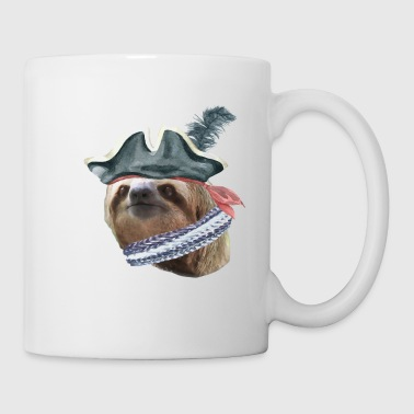Sloth Pirate Hat scarf Sloths In Clothes - Coffee/Tea Mug