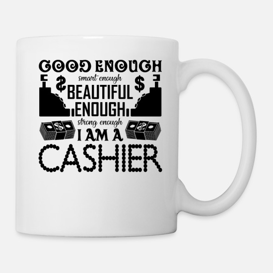 Cashier Shirt Mugs & Drinkware - Strong Cashier Shirt - Mug white