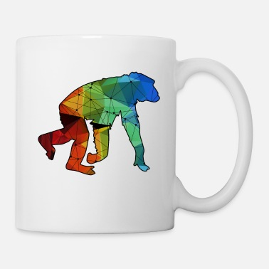 Chimpanzee Chimpanzee Colorful Shirt - Coffee/Tea Mug