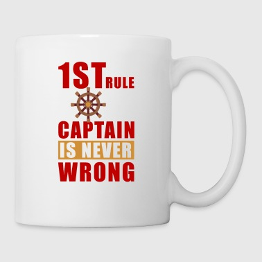 1 St rule captain is never wrong - Coffee/Tea Mug