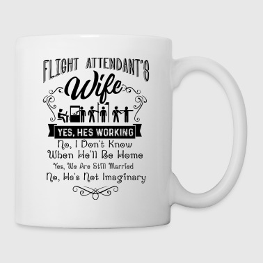 Flight Attendant's Wife Shirt - Coffee/Tea Mug
