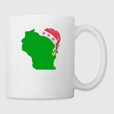 Wisconsin Christmas Cute Christmas Gift Green US State - Coffee/Tea Mug