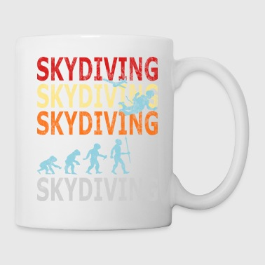 Retro Vintage Style Evolution Skydiver Skydiving - Coffee/Tea Mug