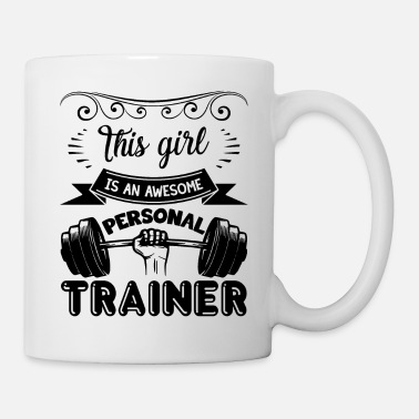 Trainer Awesome Personal Trainer Girl Shirt - Coffee/Tea Mug