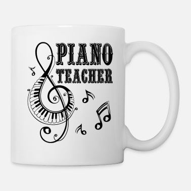 Piano Piano Teacher Jobs Shirt - Coffee/Tea Mug