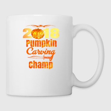 Halloween Pumpkin Carving Champ 2018 Cool Jack O Lantern - Coffee/Tea Mug