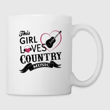 This Girl Loves Country Music Shirt Cowboy Guitar - Coffee/Tea Mug