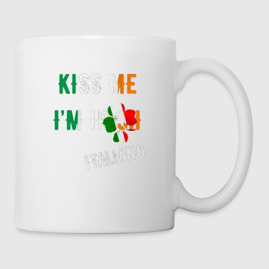 Kiss Me I'm Italian St Patrick's Day Irish Italy - Coffee/Tea Mug