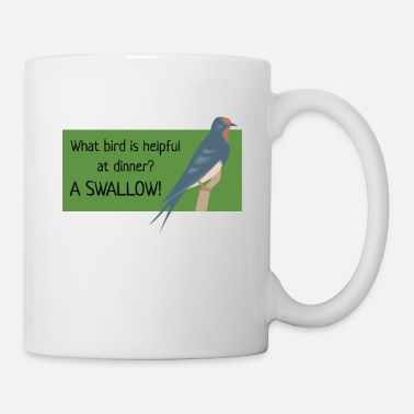 Pun A Swallow Funny Bird Pun - Coffee/Tea Mug