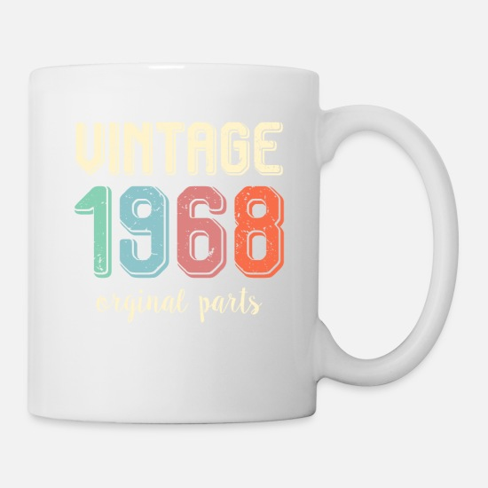 Vintage Retro 1968 50 Years Old 50th Birthday Gift Mug