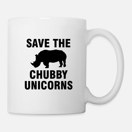 Rhinoceros Mugs & Drinkware - Save the chubby unicorns - Mug white
