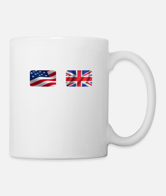 Nottingham Mugs & Cups - Half British Half American Totally Awesome - Mug white