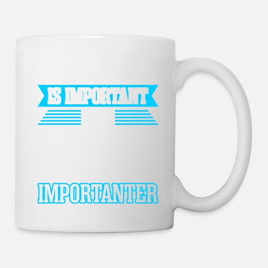 Birthday Mugs & Drinkware - Education Is Important But Biking Is Importanter - Mug white