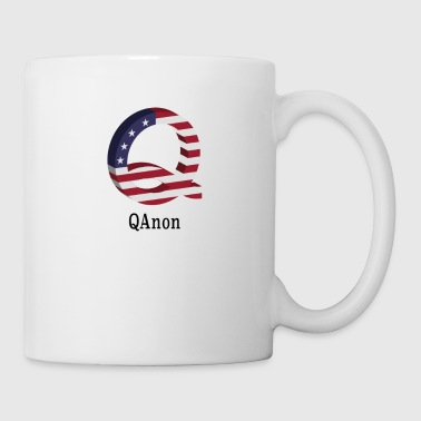 Pro QAnon Pro Trump Political Deep State Conspiracy USA Flag - Coffee/Tea Mug