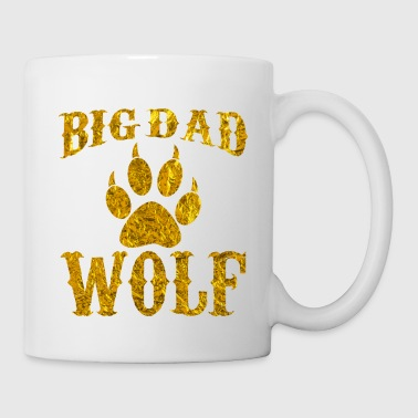 Wolf Big Dad Wolf Paw Vintage Funny Novelty T Shirt - Coffee/Tea Mug