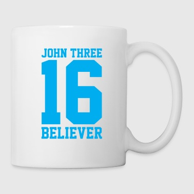 Spiritual John 3:16 Believer, Lite Blue, Christian - Coffee/Tea Mug