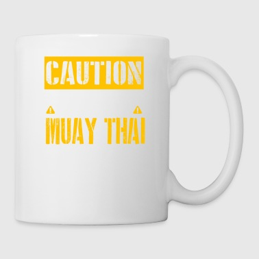 Talk CAUTION - Muay Thai Fan - Coffee/Tea Mug
