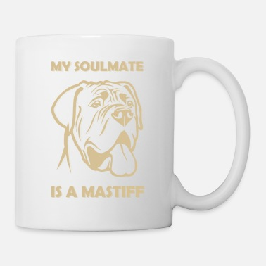 Romantic Show your endless infinite love Soulmate TShirt Mastiff - Coffee/Tea Mug